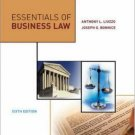 Essentials of Business Law 6th by Anthony Liuzzo 0073054275