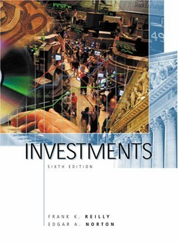 Investments 6th by Frank K. Reilly 0030339294