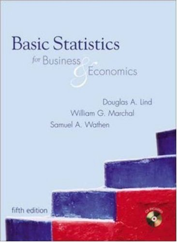 Basic Statistics for Business and Economics 5th by Douglas Lind 0073121657