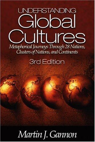 Understanding Global Cultures 3rd by Martin J. Gannon 0761929800