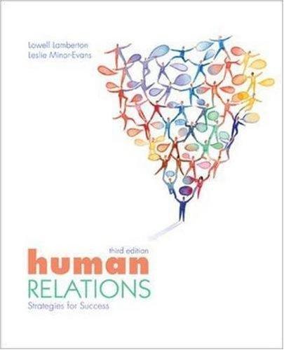 Human Relations: Strategies for Success 3rd by Lamberton 0073522317