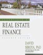 Essentials of Real Estate Finance 11th by David Sirota 1419520911