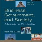 Business, Government and Society: A Managerial Perspective 10th by George A. Steiner 0072488344