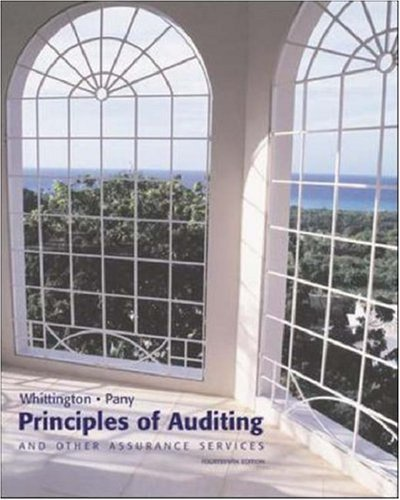 Principles of Auditing & Other Assurance Services by Ray Whittington 0072879521