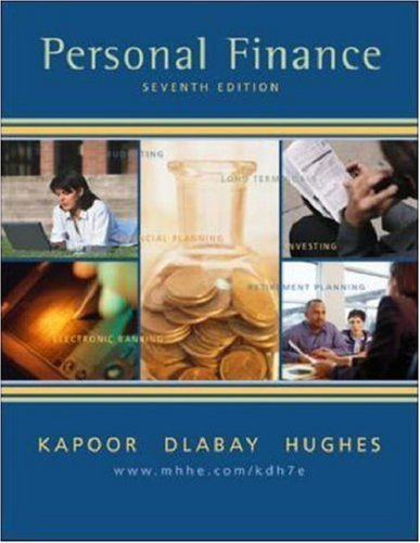 Personal Finance 7th by Jack Kapoor 0072866578