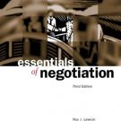 Essentials of Negotiation 3rd by Roy J. Lewicki 0072545828