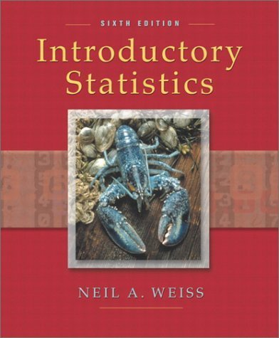 Introductory Statistics 6th by Weiss 0201710595