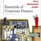 Essentials of Corporate Finance 4th by Stephen A. Ross 0072848847
