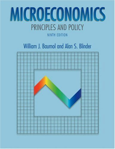 Microeconomics: Principles and Policy 9th by William J. Baumol 0030355176