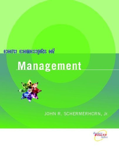 Core Concepts of Management by David Chappell 0470067438