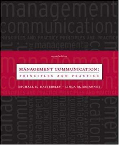 Management Communication 2nd by Linda Micheli McJannet 0072883561
