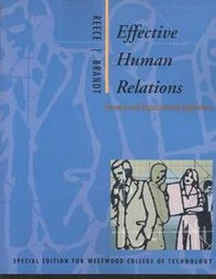 Effective Human Relations: Personal and Organizational Applications 8th by Barry L. Reece 0618239480
