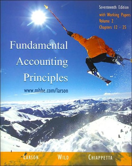 Fundamental Accounting Principles 7th Volume 2 by Barbara Chiappetta 007294725X