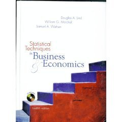 Statistical Techniques in Business & Economics 12th by Douglas A. Lind 0072868244