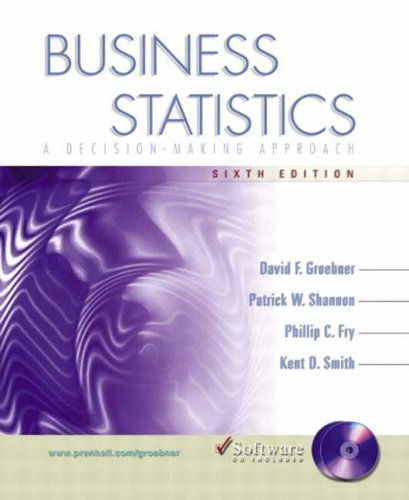 Business Statistics: A Decision-Making Approach 6th by David F. Groebner 0130477850