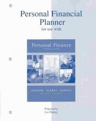 Personal Financial Planner to accompany Personal Finance 7th by Jack Kapoor 0072534192