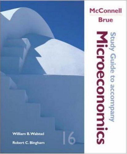 Microeconomics Study Guide 16th by Campbell R McConnell 007288472X