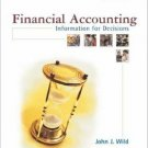 Financial Accounting: Information for Decisions 2nd by John J. Wild 0072536691