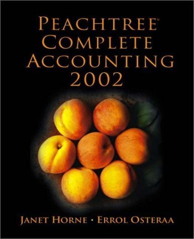 Peachtree Complete Accounting 2002 by Janet Horne 0130781185