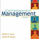 Contemporary Management 3rd Ed. by Gareth R Jones 007291890X