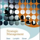 Strategic Management: Text and Cases 3rd Ed. by Gregory Dess 0073102466