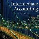 Intermediate Accounting 12th Ed. by Donald E. Kieso 0471749559