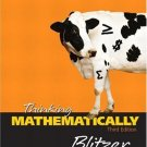 Thinking Mathematically 3rd by Robert Blitzer 0131432435