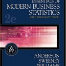 Essentials of Modern Business Statistics With Microsoft Excel 2nd Ed. by Anderson 0324184522
