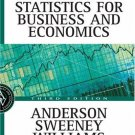 Essentials of Statistics for Business and Economics 3rd Ed. by David R. Anderson 0324145802