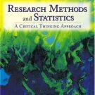 Research Methods and Statistics: A Critical Thinking Approach by Jackson 0534554237