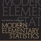 Modern Elementary Statistics, 11th Edition by John E. Freund 0130467170