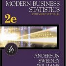 Modern Business Statistics 2nd Ed. by David R. Anderson 0324233221