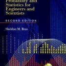 Introduction to Probability & Statistics for Engineers & Scientists 2nd Ed. by S. Ross 0125984723