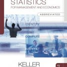 Statistics for Management and Economics Abbreviated 7th Ed by Gerald Keller 0324376332