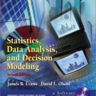 Statistics Data Analysis and Decision Modeling 2nd Ed. by David L. Olsen 0130675539