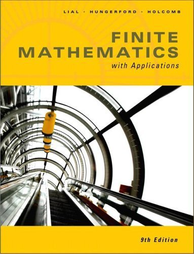 Finite Math with Applications 9th Edition by Margaret L. Lial 0321386728