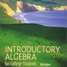 ntroductory Algebra for College Students 3rd Edition by Robert F. Blitzer 0130328391