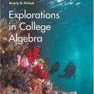 Explorations in College Algebra 4th Ed. by Kime 0471916889