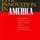 Civic Innovation in America by Carmen Sirianni 0520226372