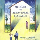 Methods in Behavioral Research 8th by Paul C. Cozby 0072523425