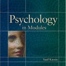Psychology in Modules by Saul Kassin 0131919989