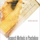 Research Methods In Psychology 6th by Eugene B Zechmeister 0072494468
