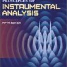 Principles of Instrumental Analysis, 5th Ed by Douglas A. Skoog 0030020786