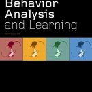 Behavior Analysis and Learning 4th edition by Pierce 0805862609