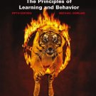 The Principles of Learning and Behavior 5th by Domjan 053456156X