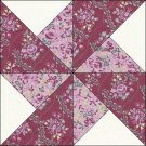 Calico Roses Floral Fabric Quilt Top Block Kit & Border