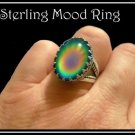 Top Quality Fancy Prong Sterling Silver Mood Ring Unusual