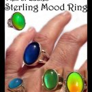 Mood Ring Man or Ladies Sterling Silver - Retro Vintage Flashback