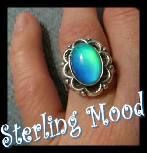 Retro Flower Top of the Line Sterling Silver Mood Ring