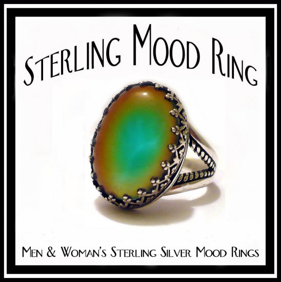Color Changing Prong Sterling Silver Mood Ring Unusual